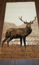 Modern Approx 5x3 80x150cm Woven Backed Top Quality Stag  Beiges Rugs/Mats